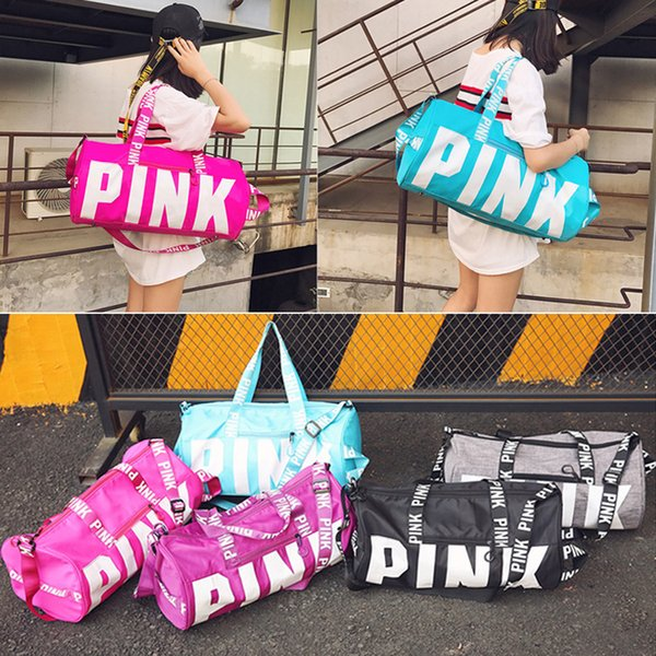 Brand design duffel bags black love pink storage bag big large men women travel hangbag waterproof luggage bags free shipping