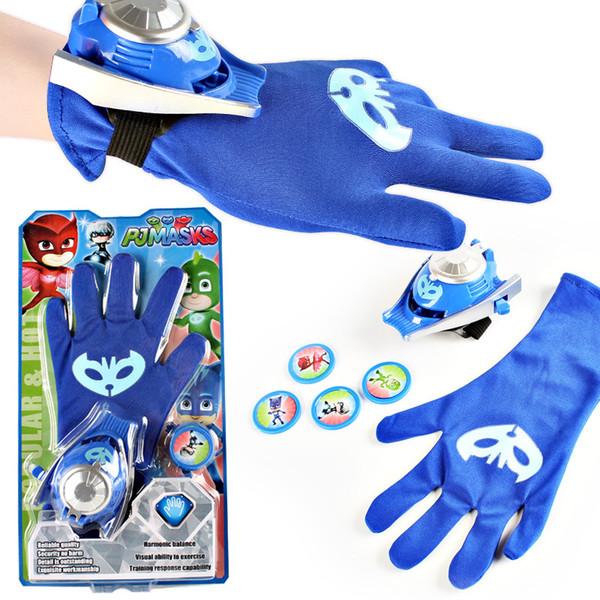 New Halloween Gifts Kids Supermen Gloves Party Costume PJ MASKS Connor/Greg/Amaya Gloves for Boys Girls Pajamas Men Dress Up HD1