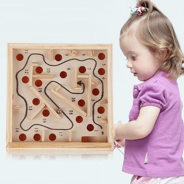 Children Maze Toys Wooden Labyrinth Board Game Ball Kids Intellectual Development Educational Toys for Children