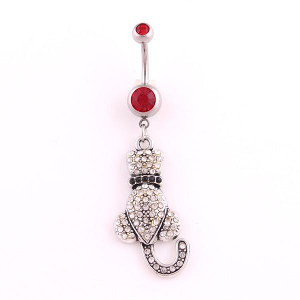 Bonito Branco E Preto Dangle Belly Bar Botão Anéis de Cristal Body Jewelry Sexy Umbigo Piercing Mulheres