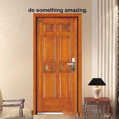 Inspirational Faire quelque chose de surprenant Sticker mural amovible Vinyle Mots Decal Home Salon Citation Décor sur la porte