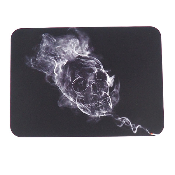 smoke shape skull Non-stick Wax Mat Pad Silicone Nonstick Mat dry herb vape pen dabber tool Small Rectangle 27.5X20CM silicone sheets