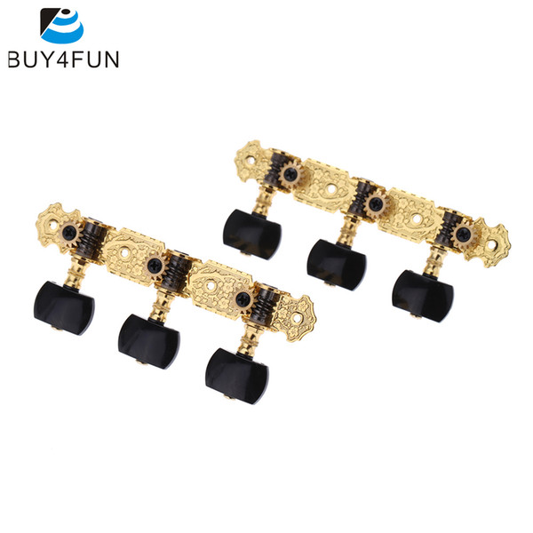 Wholesale- AOS-020B3P 1 Pair Gold-Plated Guitar Tuners Machine Head High Quality Classical Guitar String Tuning Keys Pegs