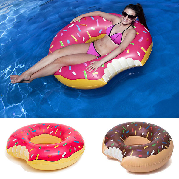 Donut Float Gigantic Donut Pool Float Funny Inflatable Vinyl Summer Pool or Beach Toy 48 Inches