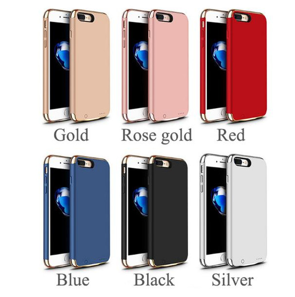 Best Lux Mobile Battery case For X XS XR Max 6.5 3in1 Ultra Thin Luxury Matte Plating Metal Texture phone case for iphone 6 6S 7 8 Plus