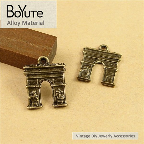 BoYuTe (100 Pieces/lot) 16*14MM Antique Bronze Plated Triumphal arch Pendant Charms for Jewelry Making Diy Accessoreis Parts Hand Made