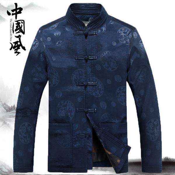 Kung-Fu-Anzug des traditionellen Chinesen männliche Kleidungsjacke für Männer cheongsam Tangklage orientalische Abnutzungs-Weinlesemann-chinesische Spitzen