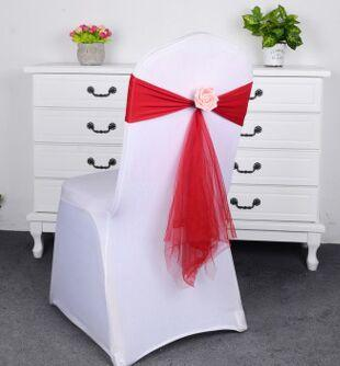 1 PC Wholesale Elegant Chair Sashes Elastic Party Wedding Chair Cover Banquet Chair Decoration Wedding Supplies