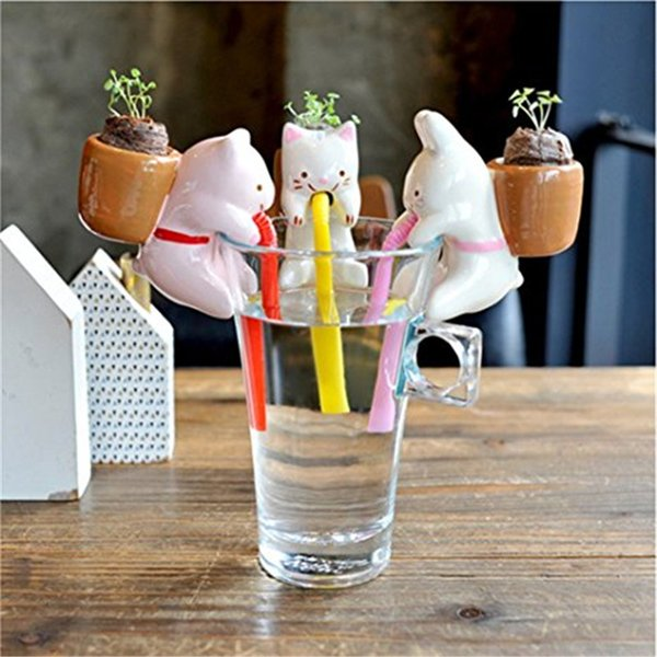 Self Watering Potted Plant for Home Office Desktop Decor High Quality Ceramic Animal Shaped Multi Style Indoor Decoration Free Shipping