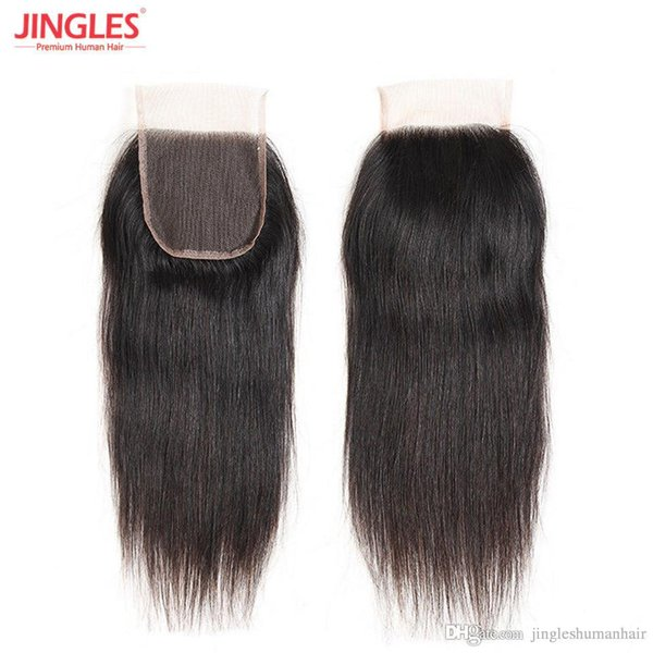 9A Raw Indian Virgin Remy Human Hair Lace Closure Straight 100% virgin Remy hair 4x4 top lace closure wholesales cheap price free shipping