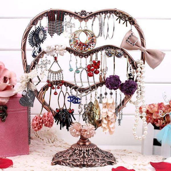 Glass earring holder stud earring vintage jewelry holder display rack accessories display rack storage plaid pavan pendant stand