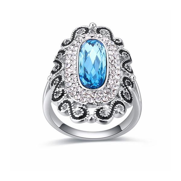 High Quality Genuine Austrian Rhinestone Crystal Ring Women Crystals from SWAROVSKI