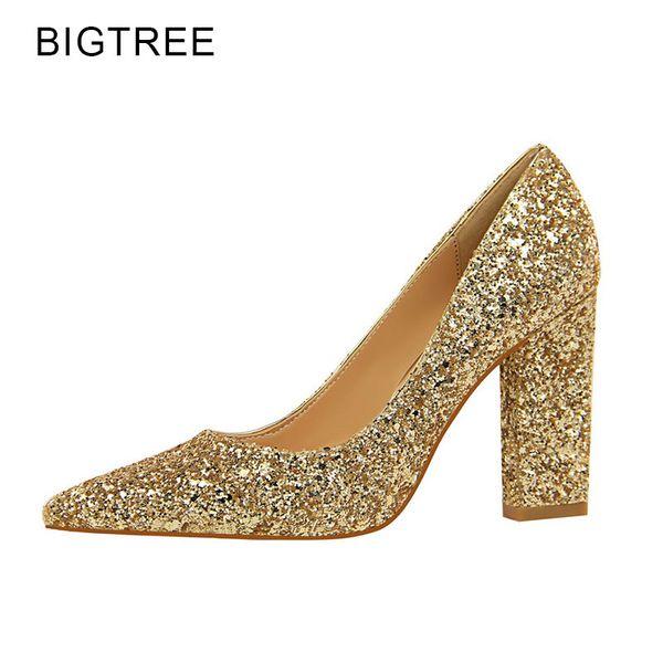 Plata Mujer Altos Boda Bigtree Zapatos De Tacones Oro Compre Nuevos qTZS6