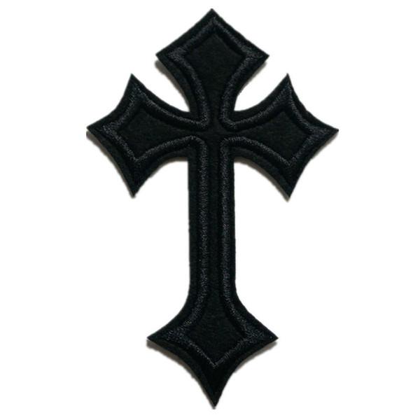 Patch di ricamo nero Jesus Cross Sew Iron On Patch ricamate Badge per borsa Jeans Cappello T Shirt Appliques fai da te Decorazione artigianale