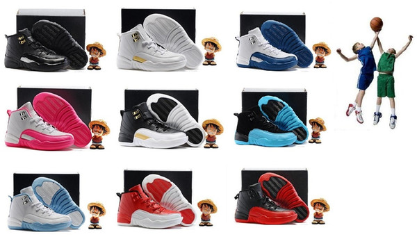 12 Kids Basketball Shoes Youth Children's Athletic 12s Sports Shoes for Boy Girls Shoes Free Shipping size:28-35