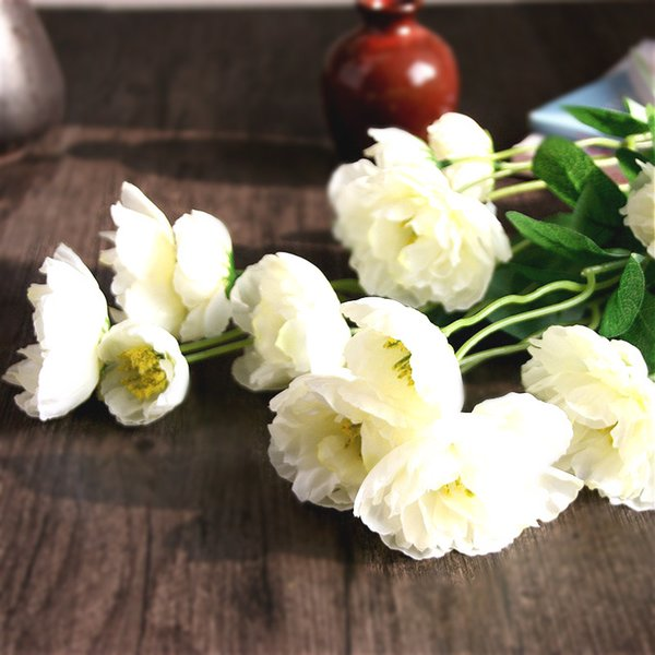 7pcs/lot Artificial Silk Poppies Flowers Silk Poppy Flower for Home Wedding Party Decoration Floral High 50cm