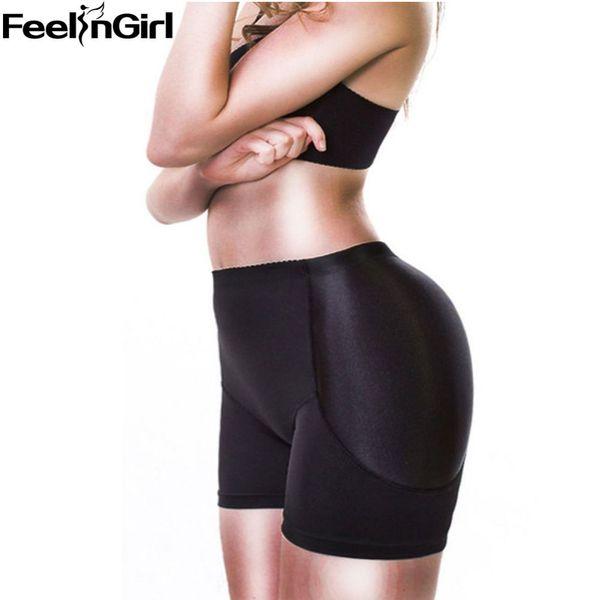 FeelinGirl Senhora Acolchoado Bunda Reforço Hip Calcinha Shaper Nádegas Push Up Roupa Interior das Mulheres Plus Size-E Butt Lift Panty Controle