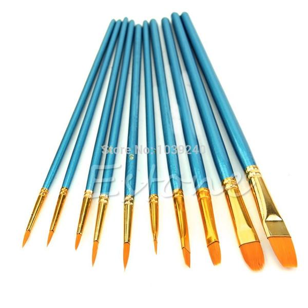 Set di pennelli per artisti 30 set / 10 pezzi Pennello per capelli in acrilico con punta rotonda ad acquerello acrilico