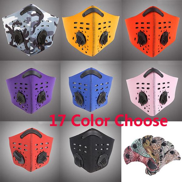 Máscara del polvo del polvo de la bicicleta al aire libre Hombres Deportes Transpirable Contaminación del aire Máscara protectora del medio rostro Máscara del neopreno PM2.5 HH7-1388