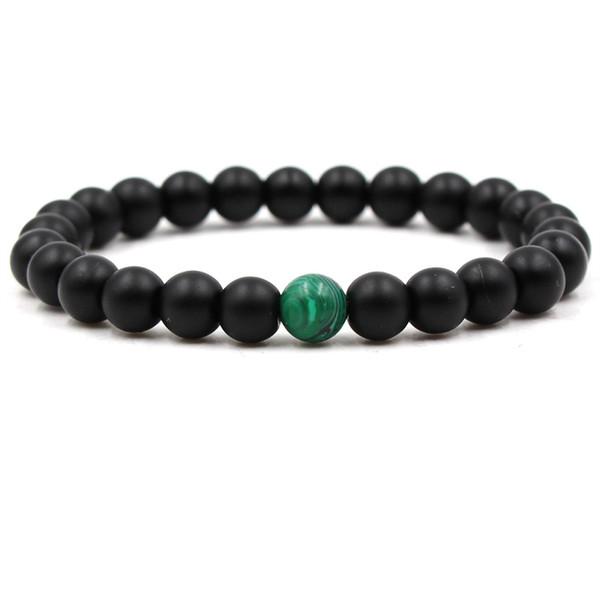 NEW DIY charm Bracelet Bangle For Men Black Lava Beaded punk Bracelets Matching Yin Yang Jewelry Gift pulsera DropShipping