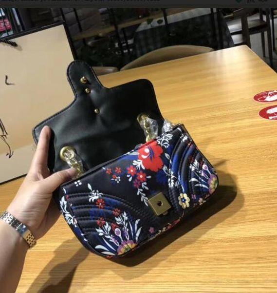 21CM Fashoin Mini Shoulder Cross Body Bags 2019 Autumn Winter Silk Material Shoulder Strap Floral Print High Quality Female Messenger Bag
