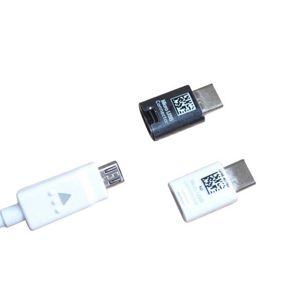 S8 Nuevo OEM Tipo-C Conector Adaptador Micro USB OTG para Samsung Galaxy S8 S8 Plus negro blanco OTH849