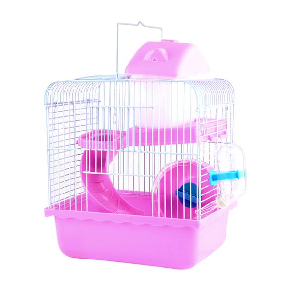 new high quality new photos dirt cheap Acheter Petforu Mignon Hamster Cage Hamster Léger Panier De Transport Pour  Animaux De Compagnie Rose + Argent De $20.11 Du Vvlover   DHgate.Com