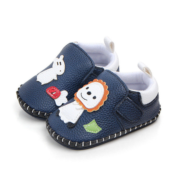 0-18 Months Baby Boy Girl Pre-Walker White Soft Sole Pram Shoes Trainers