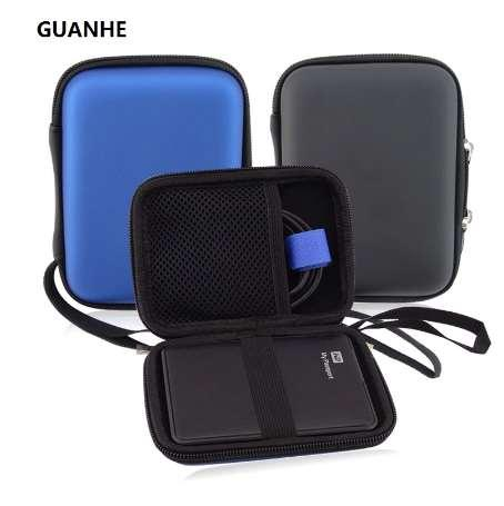 GUANHE Carry Case Cover Pouch for 2.5 inch Power Bank USB external WD HDD Hard Disk Drive Protect Protector Bag Enclosure Case