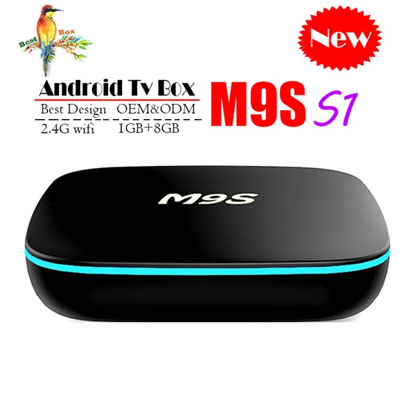 2018 Cheapest M9S S1 Android smart Tv Box Quad-Core 1GB 8GB H3 Chip Wifi Support 3D 4K Smart Media Player Set Top Box Better MXQ PRO S905W