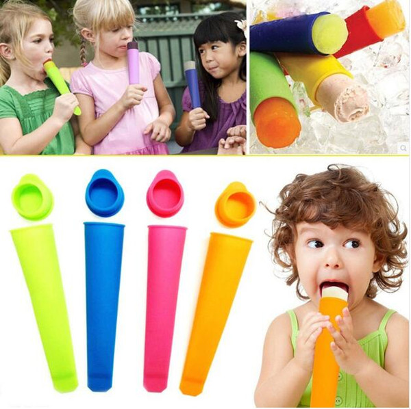 New Ice Cream Moulds Silicone Pop Mold Popsicles Mould With Lid Ice Cream Makers Push Up Ice Cream Jelly Lolly Pop