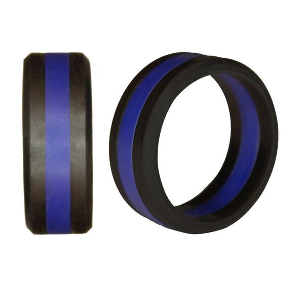 Threelayer Silicone Ring Two Color Tire Tire Silicone Wheel Ring Alianzas de boda Anillo deportivo Accesorios Joyería Soporte FBA Envío de la gota H510F