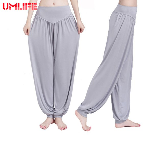 UMLIFE Yoga Pants Women Plus Size Jogging Trousers Sports Pants Fitness Gym Bloomer Dance Full Length Hot Sale Breathable