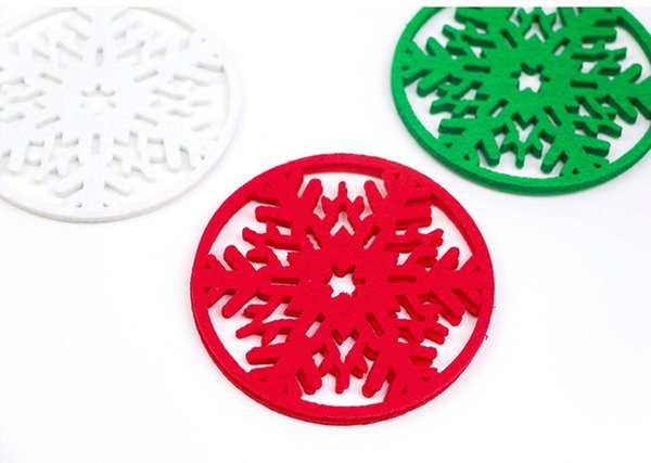 Christmas ornament household items Christmas snow cup mat non - woven cloth blanket cup mat eat Insulation mat