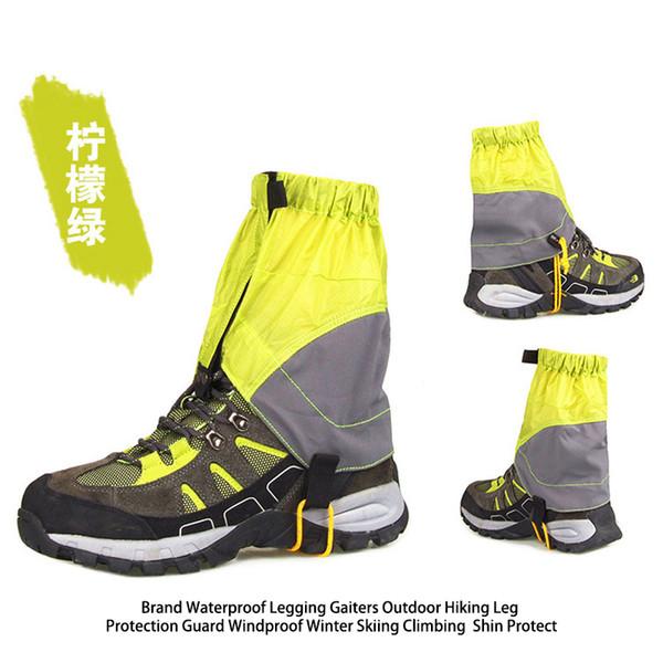 Venta al por mayor- LUCKSTONE nuevas polainas de senderismo 2PCS Impermeable a prueba de viento Al aire libre Protección de piernas Guardia Esquí de invierno Escalada Calzas transpirables