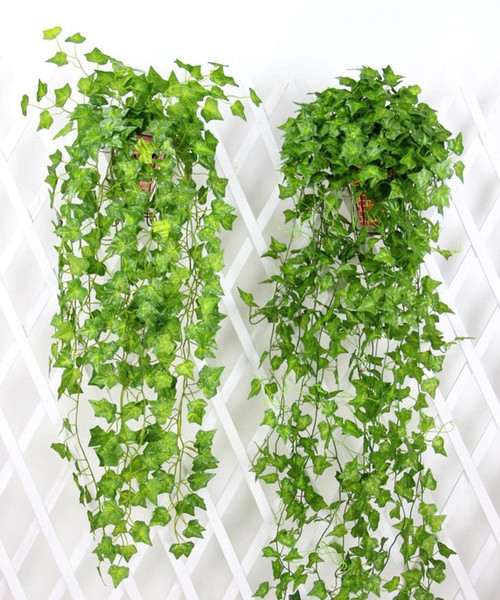 Free EMS Artificial Fake Hanging Vine Plant Green Ivy Garland Foliage Leaves Grape Rattan Home Garden Wall Decoration AVL01-04