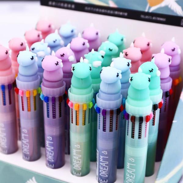 2 5PCS Einhorn 8 Farben Chunky Kugelschreiber Schule Bürobedarf Schreibwaren
