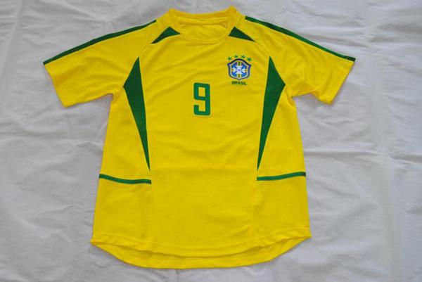 best website cb1a1 4a46a 2019 2002 World Cup Brasil 9#RONALDO Home Retro Jersey Classic Jersey From  Hao332530, $21.32 | DHgate.Com