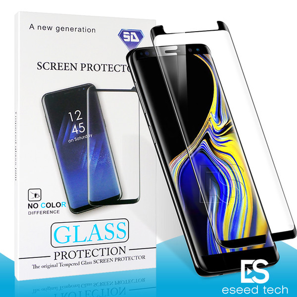 Case Friendly For Samsung Galaxy S9 S8 Plus Note 9 Note8 S7 S6 Edge 3D Curve Edge small version Tempered Glass Screen Protector With Package