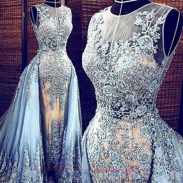 2019 Elie Saab formale Abendkleider mit abnehmbarem Zug Elegante Abendkleider Partei-Kleider Promi Abendkleider lang wirkliche Bilder