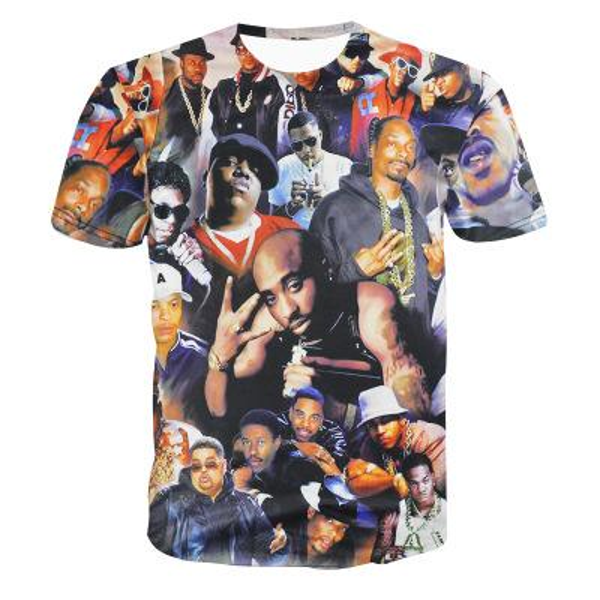 футболка новый стиль мужская летняя футболка креативная 3d печать футболки 2PAC Tupac Rap хип-хоп футболка топы тонкий стиль азия M-XXL