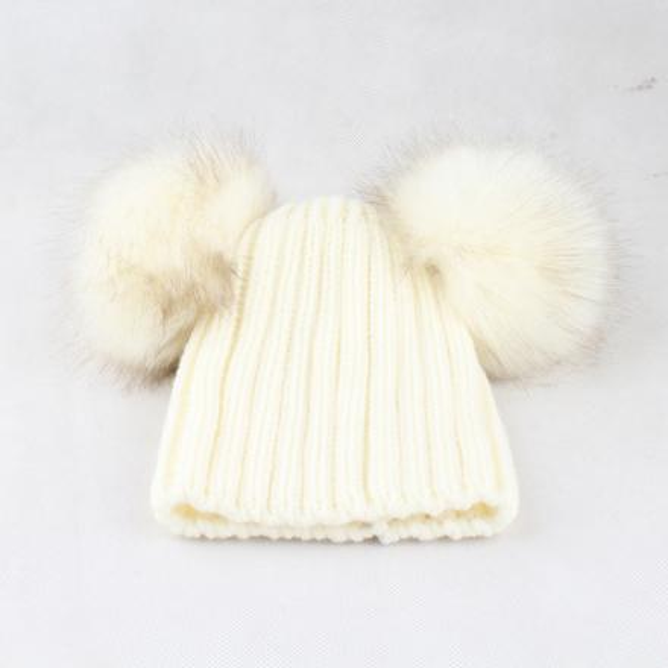 white hat white fur one free size