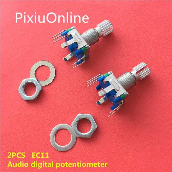 2 PZ YT2004 Encoder rotativo con interruttore EC11 Audio digitale potenziometro maniglia lunghezza 15mm Interruttore di codifica rotante Spedizione gratuita