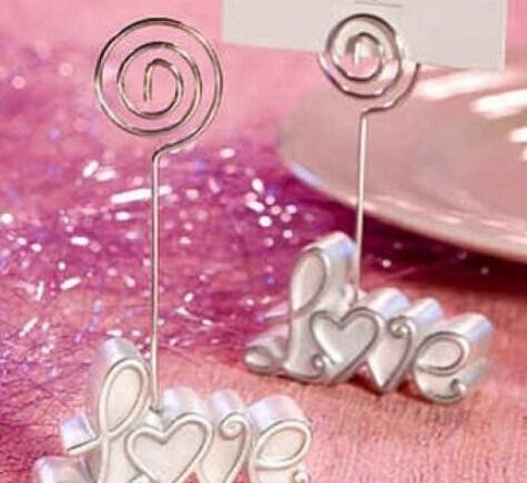 cariel 100pc Love WEDDING Place Card CLIP Holder wedding photo frame/table card holder Wedding Favor Party supplies EMS FREESHIPPING Z511B