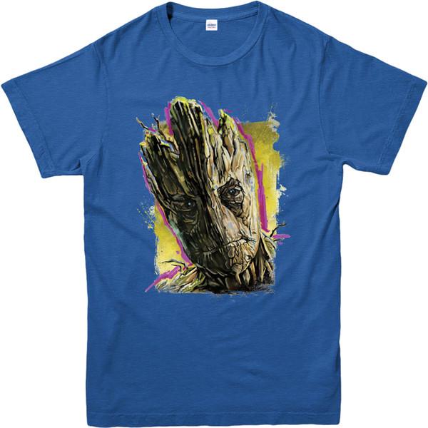 Wächter des Galaxie-T-Shirts, des Groot Face Paint, des Erwachsenen und der Kinder Größen Lustiges freies Verschiffen Unisex lässig