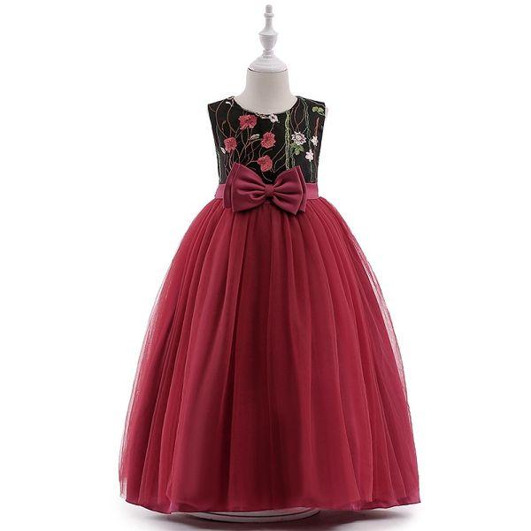 Vieeoease Girls Princess Dress Flower Kids Clothing 2018 Summer Fashion Sleeveless Vest Lace Tutu Girls Wedding Dress EE-925