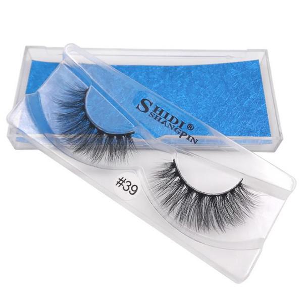 1pair/lot 100% Real Siberian 3D Mink Full Strip False Eyelash Long Individual Eyelashes Mink Lashes Extension 3D a902