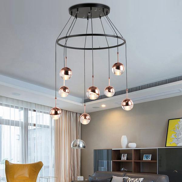 Metal Ball Pendant Lamps Bar Small led Hanging Light Modern Minimalist Bedroom Restaurant led Pendant Lights Gold lighting Industrial Lamp