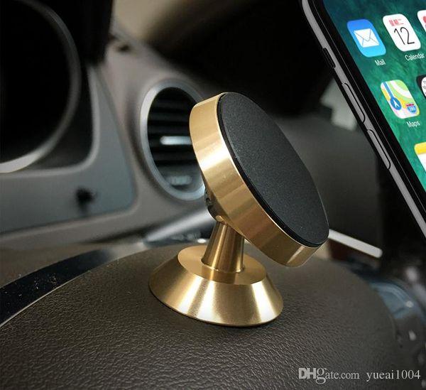 Samsung S8 Için manyetik Araç Telefonu Tutucu Artı S7 360 Rotasyon Araç Tutucu iPhone X 7 Artı Evrensel Telefon Standı Tutucu