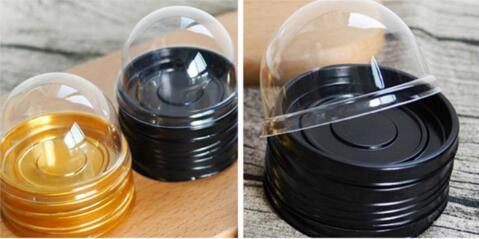 6 cm W x 5 cm H 50 setleri = 100 adet Mini Boyutu Plastik Cupcake Kek Kubbe Cupcake Kutuları Konteyner Düğün Kek Kutusu Favor Kutuları Malzemeleri